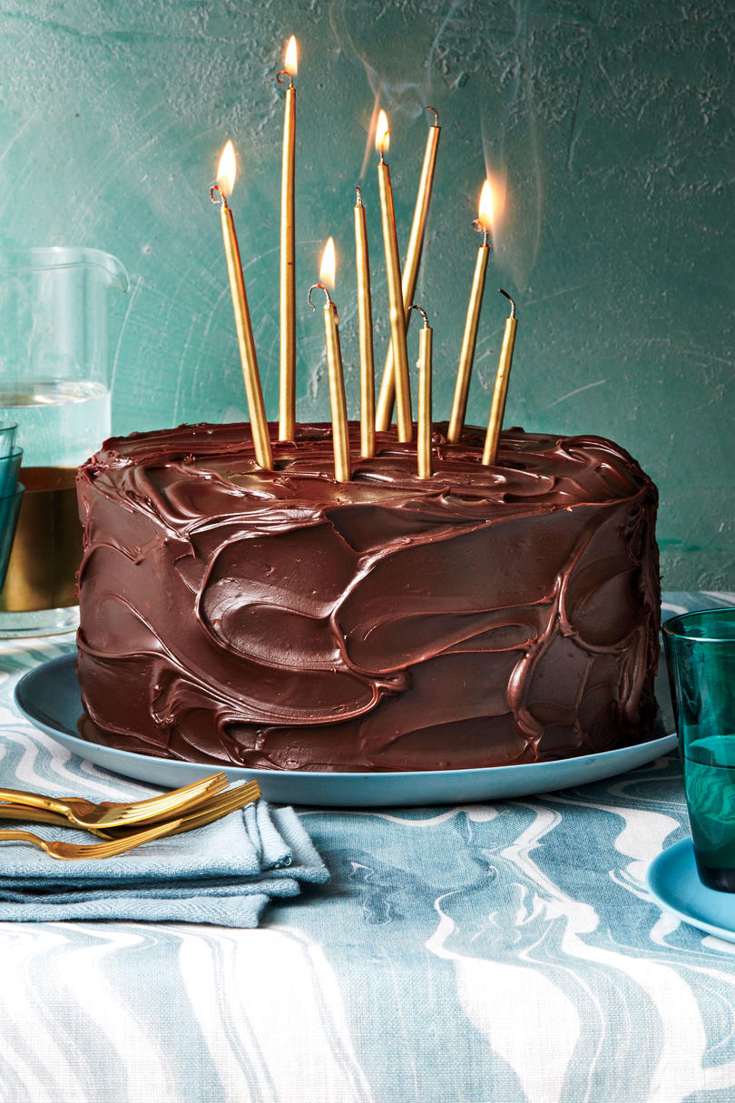 Triple-Layer Chocolate-Caramel Cake