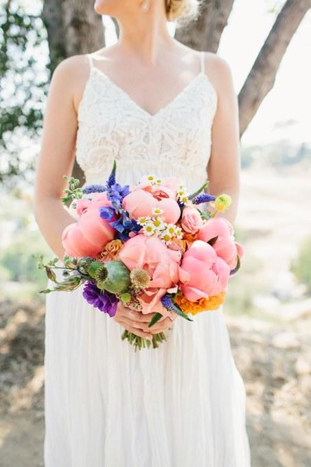 Peony Wedding Bouquets Bright