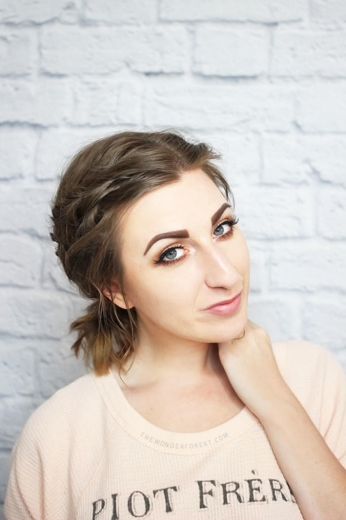4th of July Hairstyle Short Hair French Braid Ponytail