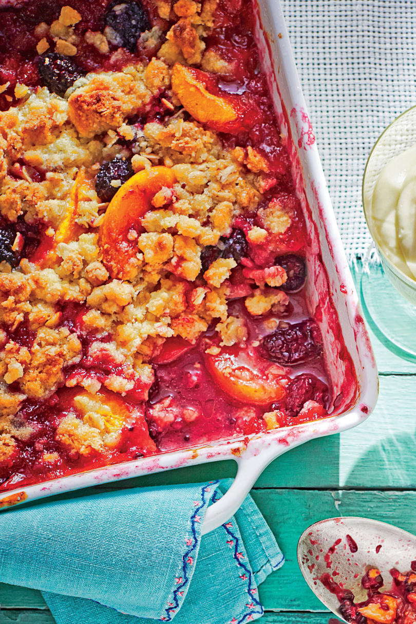 Peach Berry Crumble