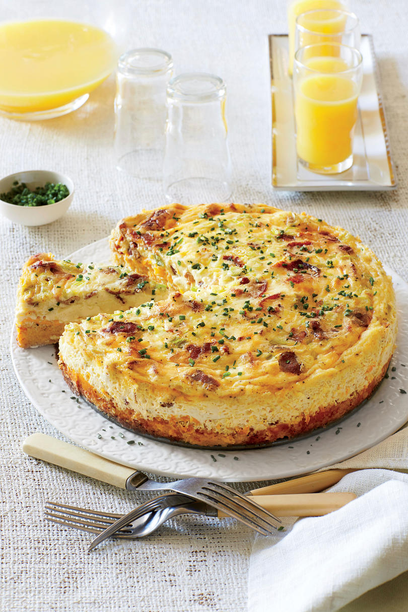 Bacon-and-Cheddar Grits Quiche