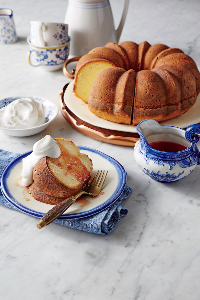 Yogurt Pound Cake with Pomegranate Syrup