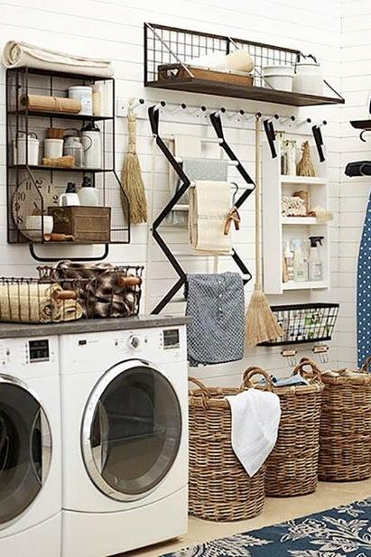 Organized Living Room: 10 Laundry Room Ideas We're Obsessed With