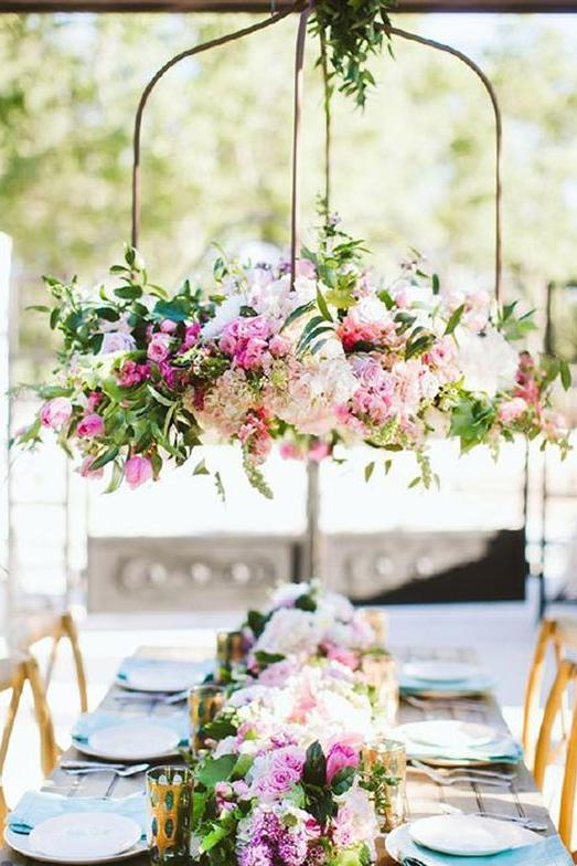 he Top Wedding Trends for 2017 Hanging Floral Centerpieces