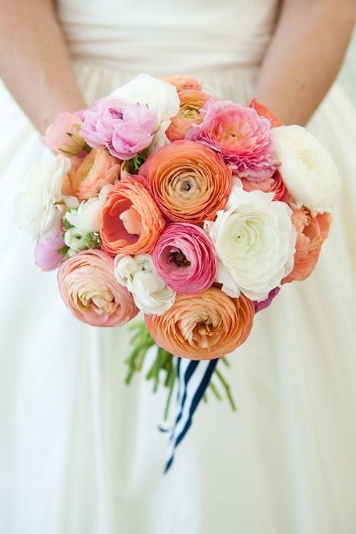 Ranunculus Wedding Bouquets Preppy
