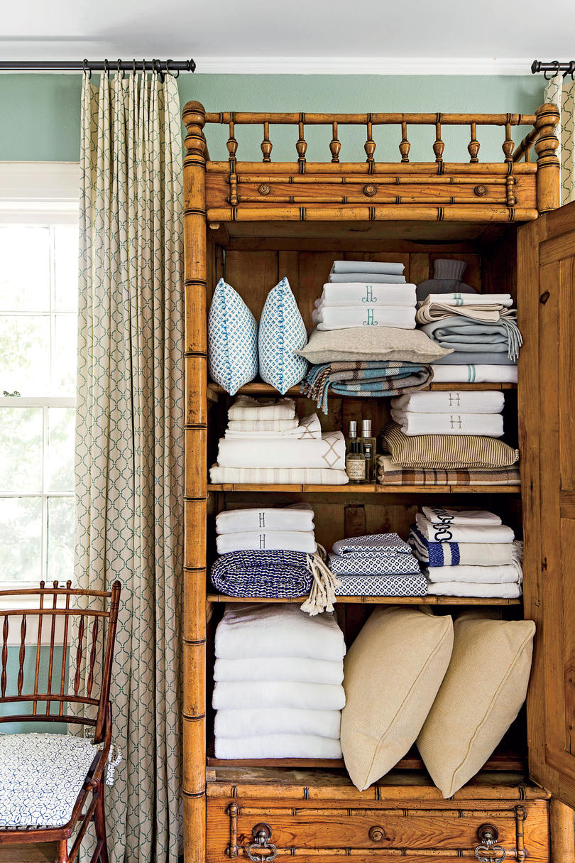 Bedding in Linen Closet
