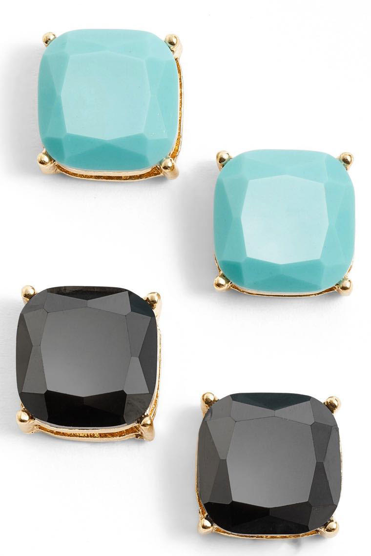 Square Stud Earrings (Set of 2)