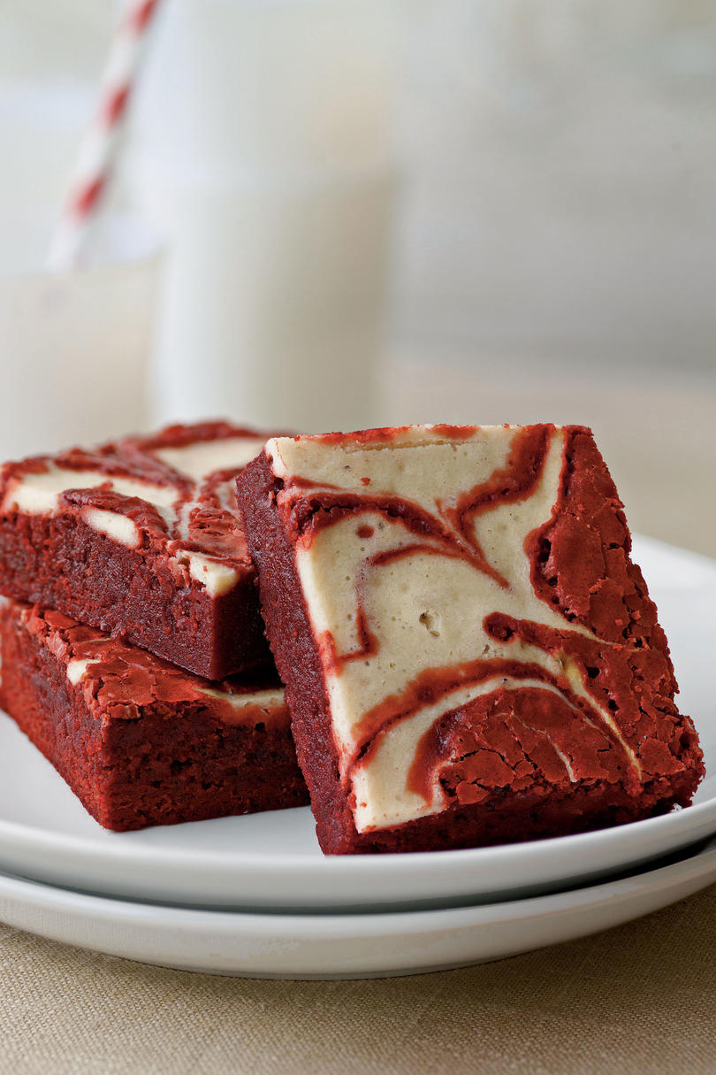 Red Velvet-Peppermint Swirl Brownies