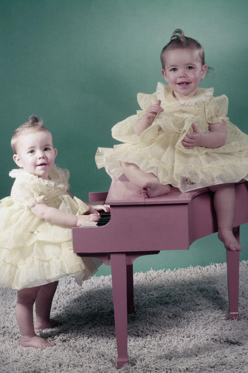 Most popular names for twin girls