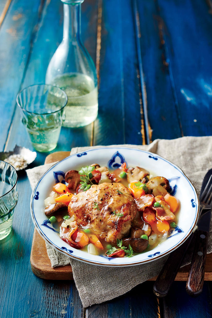 Chicken with Mushrooms and Wine