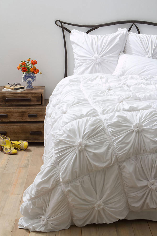 White Anthropologie Comforter
