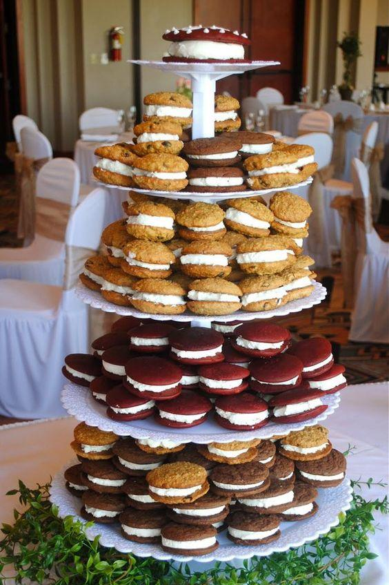 Whoopie Pie Tower Wedding Cake