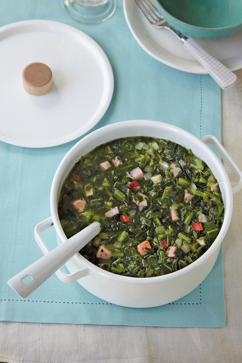 Turnip Greens-and-Ham Stew