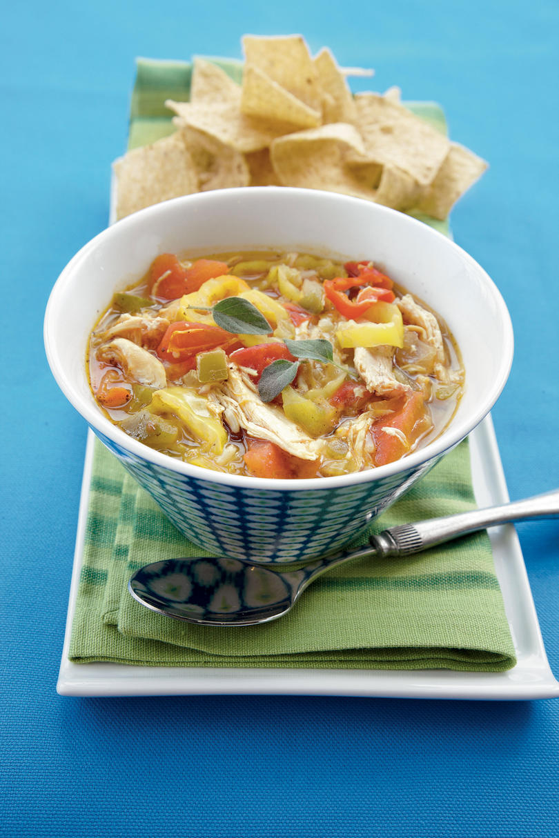 Smoked Chicken-Banana Pepper Soup