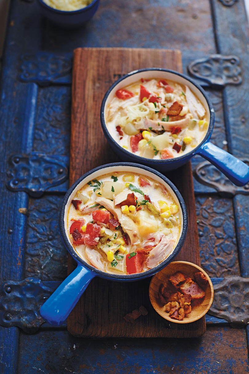 Smoked Chicken Corn Chowder