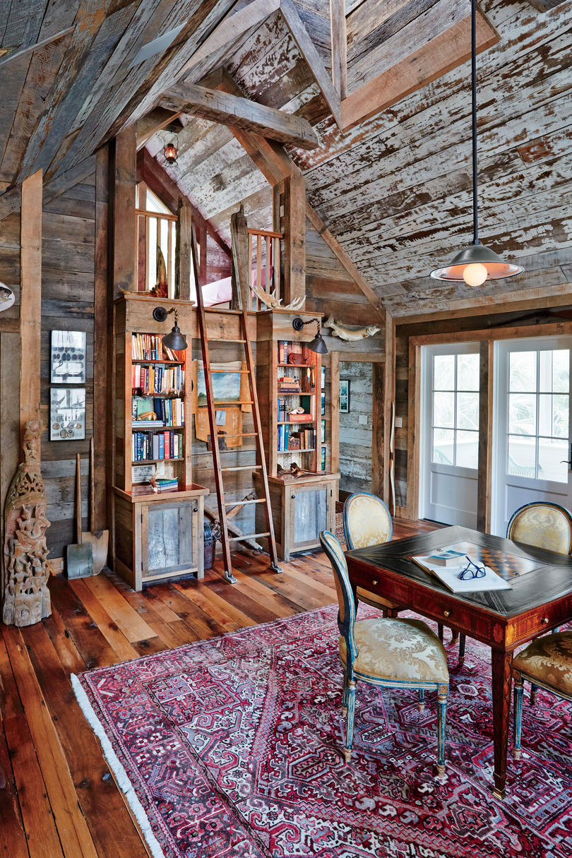 Studio with Barnwood Walls and Ceiling