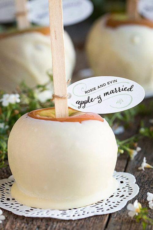 Edible Wedding Favor Ideas: Carmel Apple