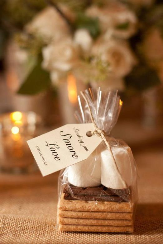 18 edible wedding favors your guests will gobble up southern living edible wedding favor ideas smores junglespirit Gallery