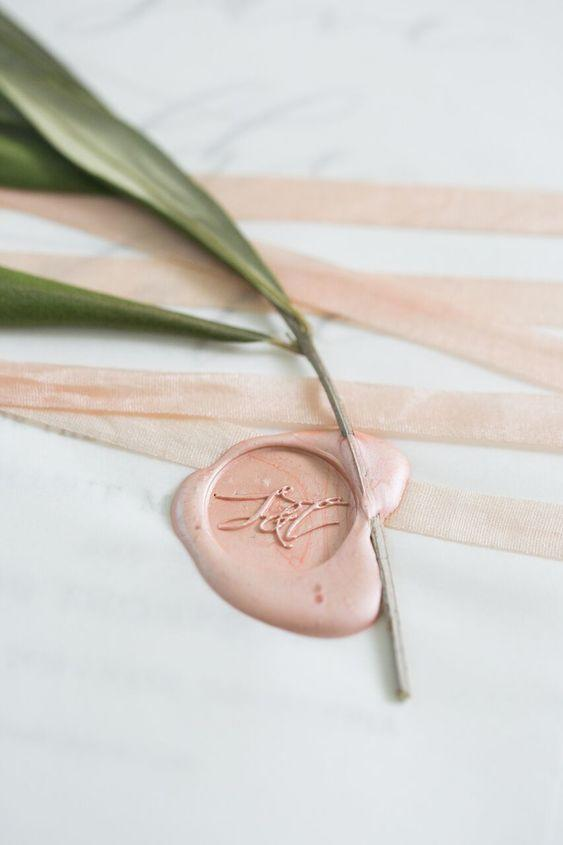 Rose-Colored Wax Seal
