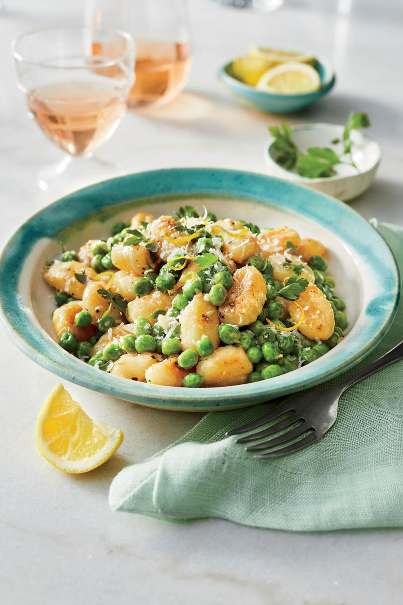 Skillet-Toasted Gnocchi with Peas