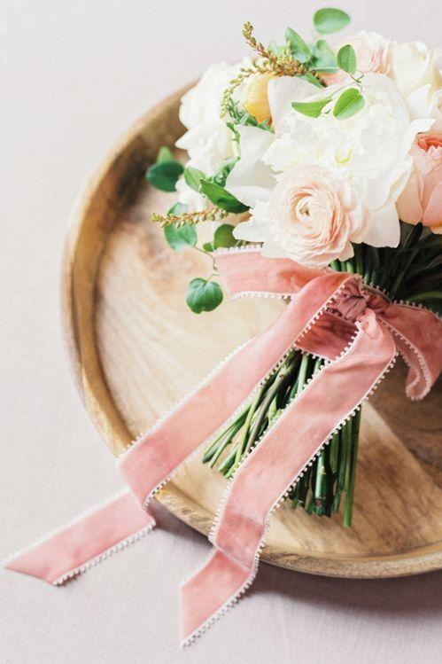 4. Tie It All Together with Rose-Colored Ribbon