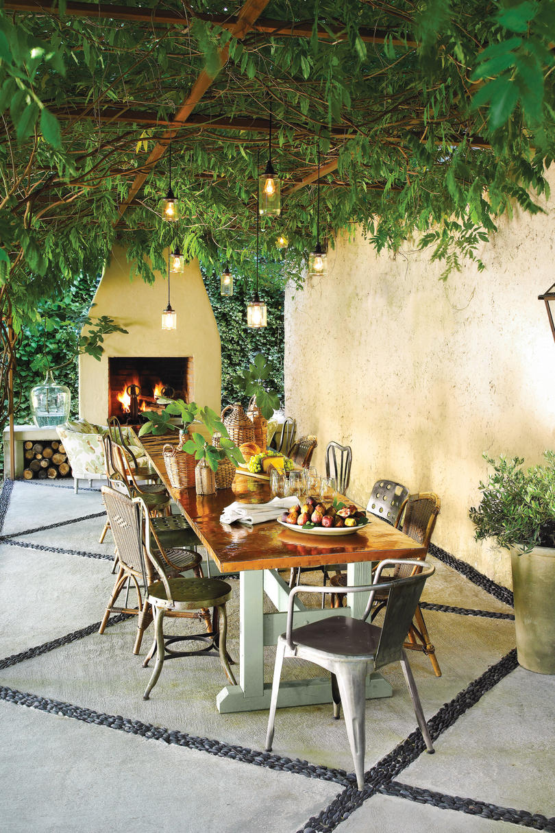 Mediterranean-Inspired Patio After