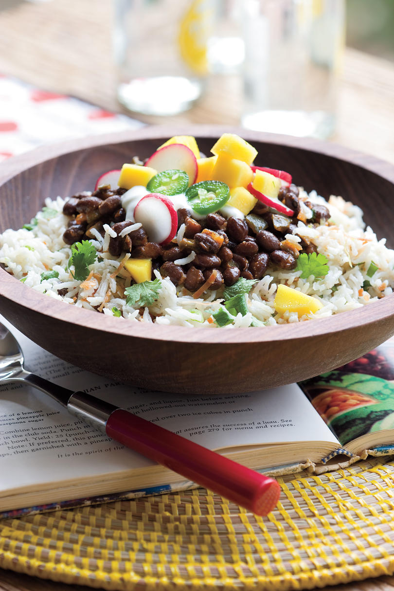 Black Beans and Coconut-Lime Rice