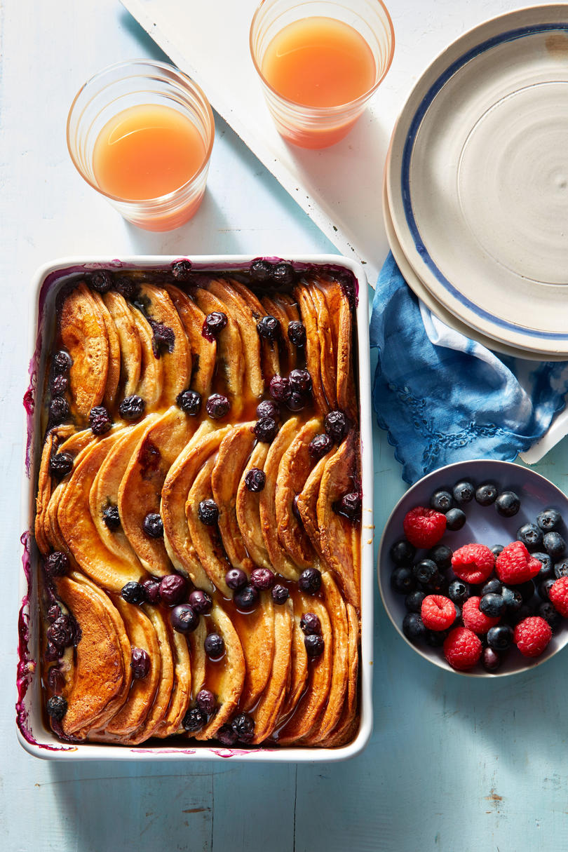 Blueberry Pancake Breakfast Casserole