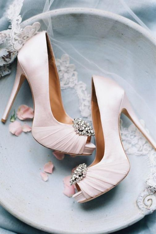 6. Walk Down the Aisle in a Pair of Pink Pumps