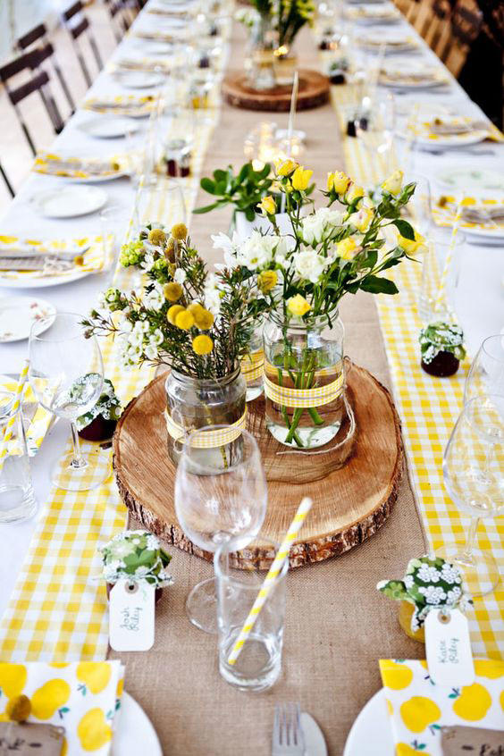 Citrus Inspired Wedding Tablescape