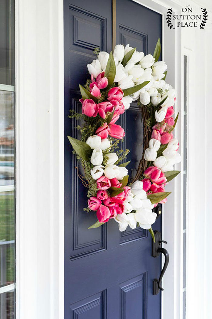 Diy Wreaths To Decorate Your Front Door For Easter