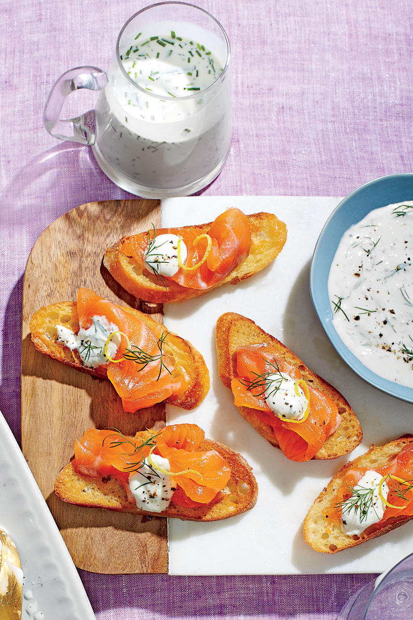 Cured Salmon with Dill-Horseradish Cream