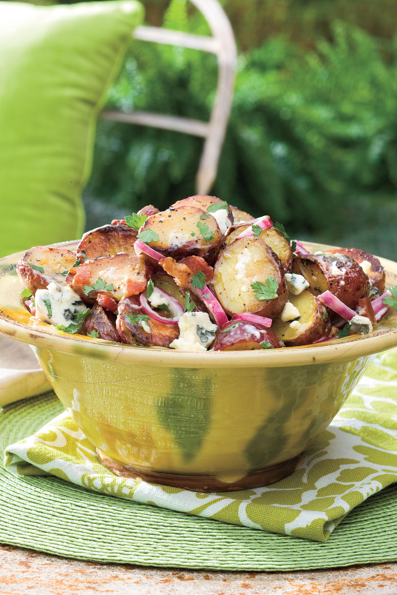 Big Daddy's Grilled Blue Cheese-and-Bacon Potato Salad