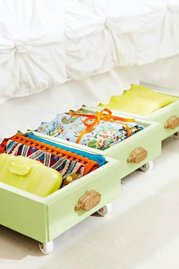 Turn an Old Drawer into Under-Bed Storage