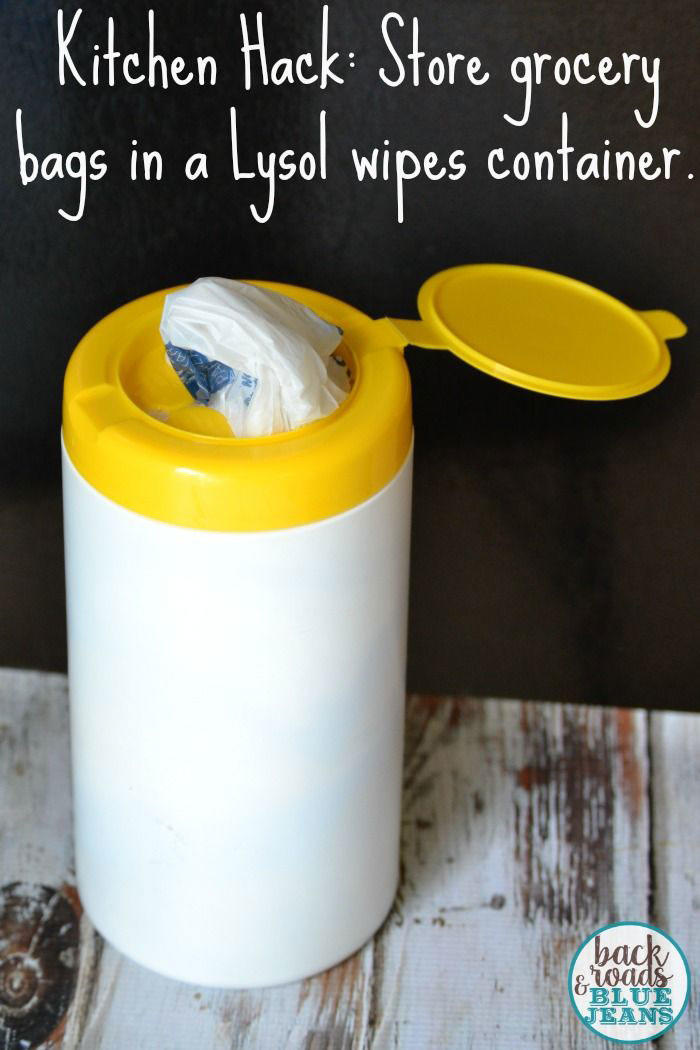 Turn a Wipes Tube into Plastic Grocery Bag Storage
