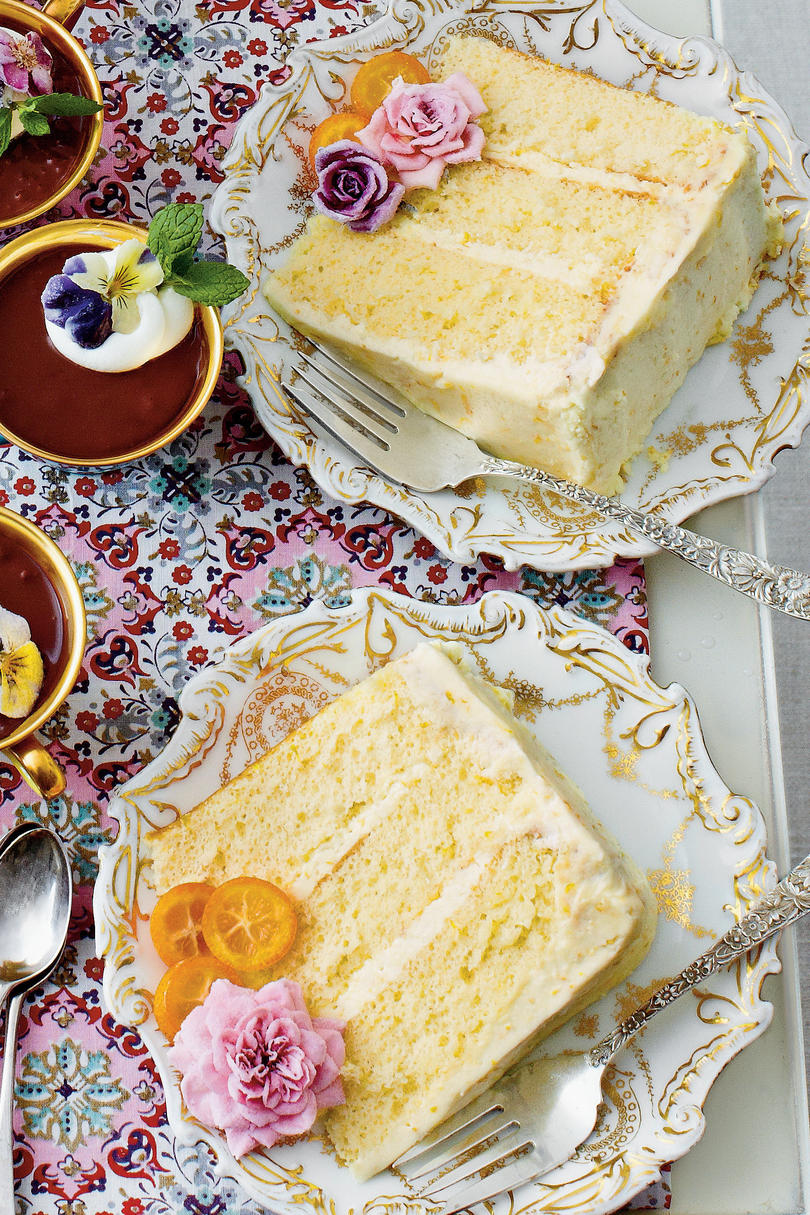 Orange Chiffon Cakes