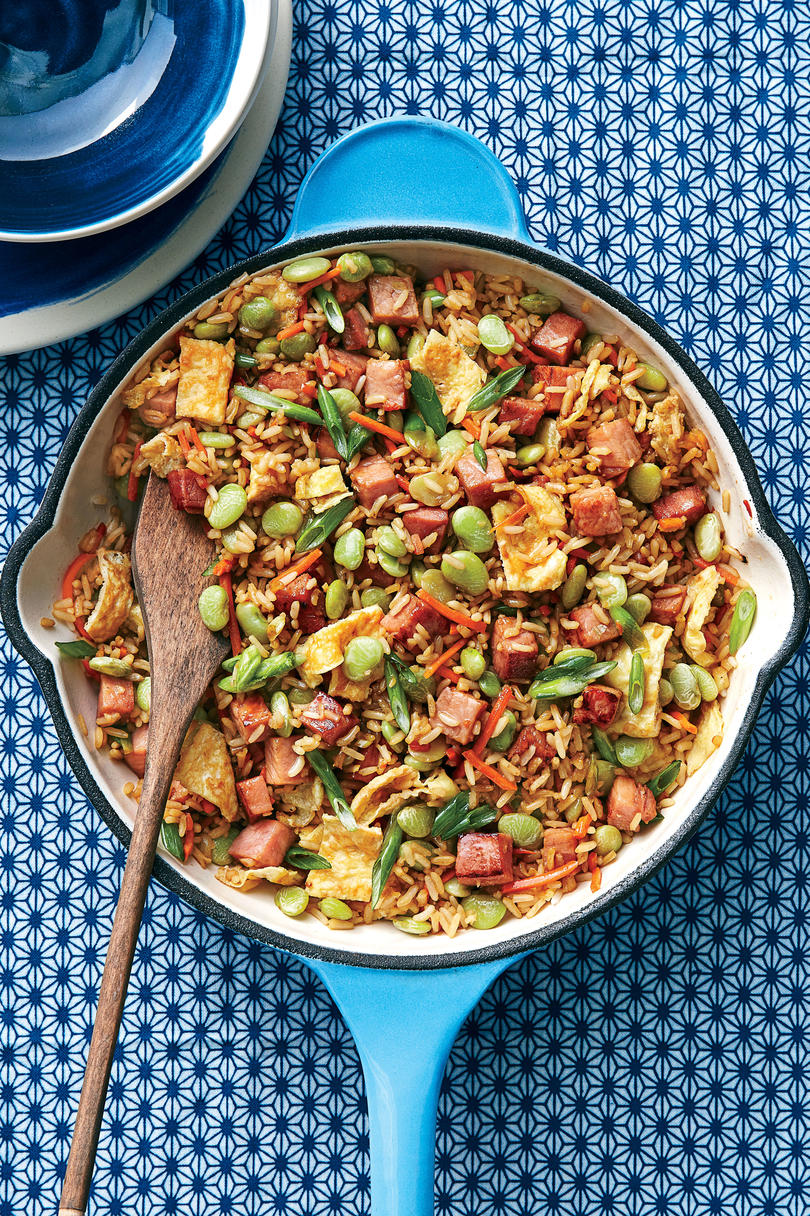 Ham and Lima Bean Fried Rice
