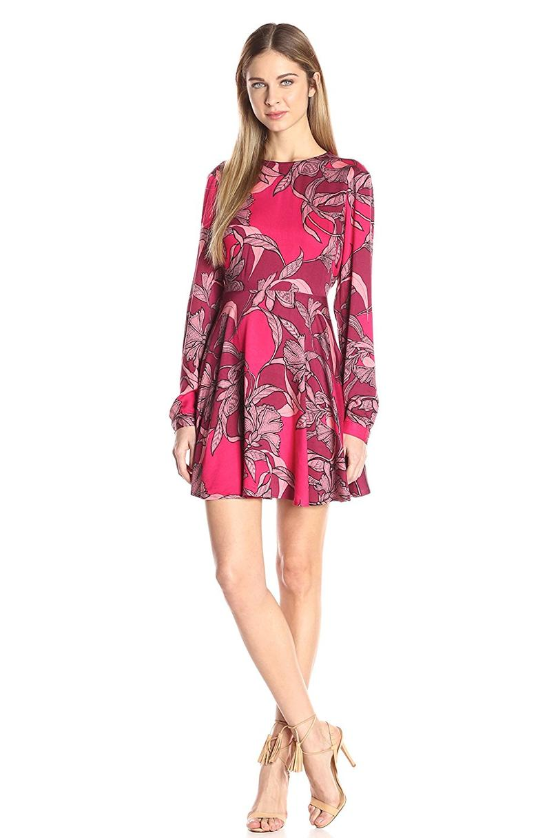 MINKPINK Women's Femme Fatal Floral Print Fit and Flare Dress