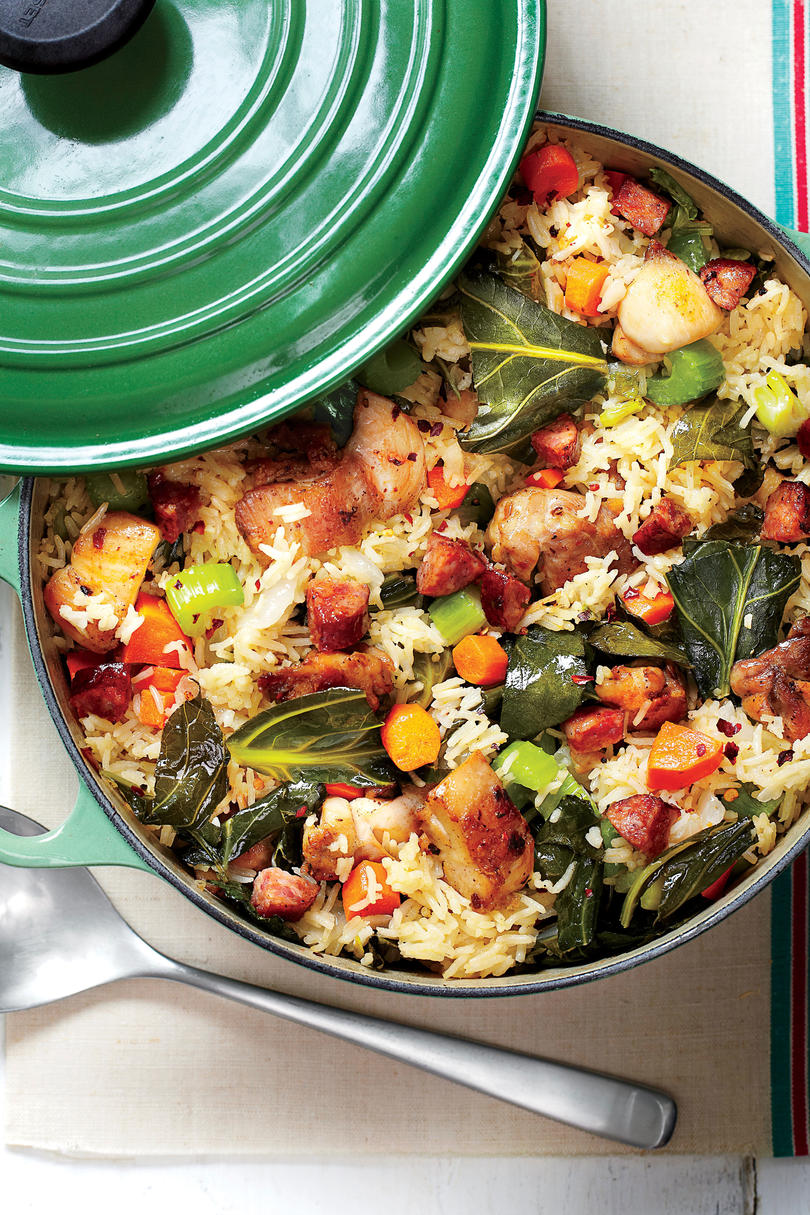 20 one pot meals for rice lovers southern living chicken and collards pilau forumfinder