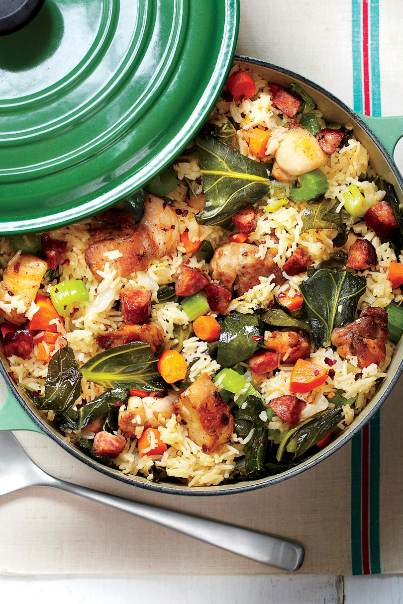 Chicken-and-Collards Pilau