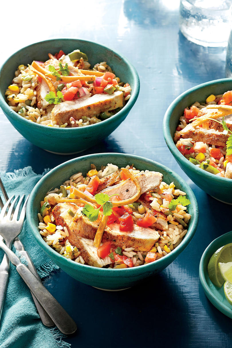 Southwest Chicken Cutlet Rice Bowl