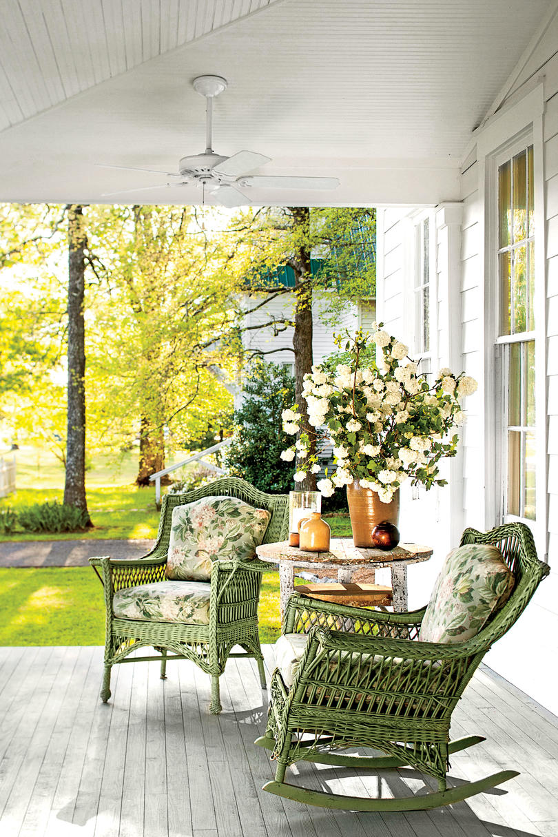 tiny porches and patios that are giving us major inspiration southern living. Black Bedroom Furniture Sets. Home Design Ideas