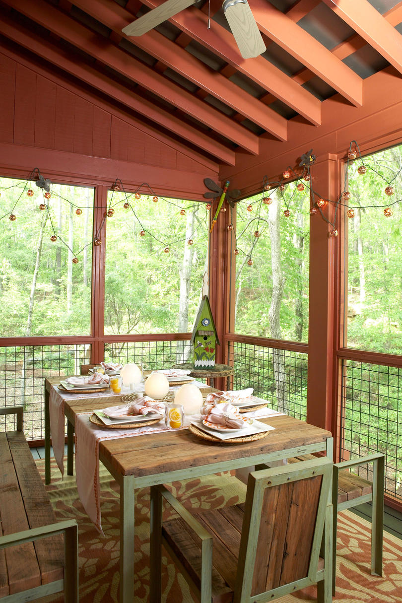 Rustic Dining Porch