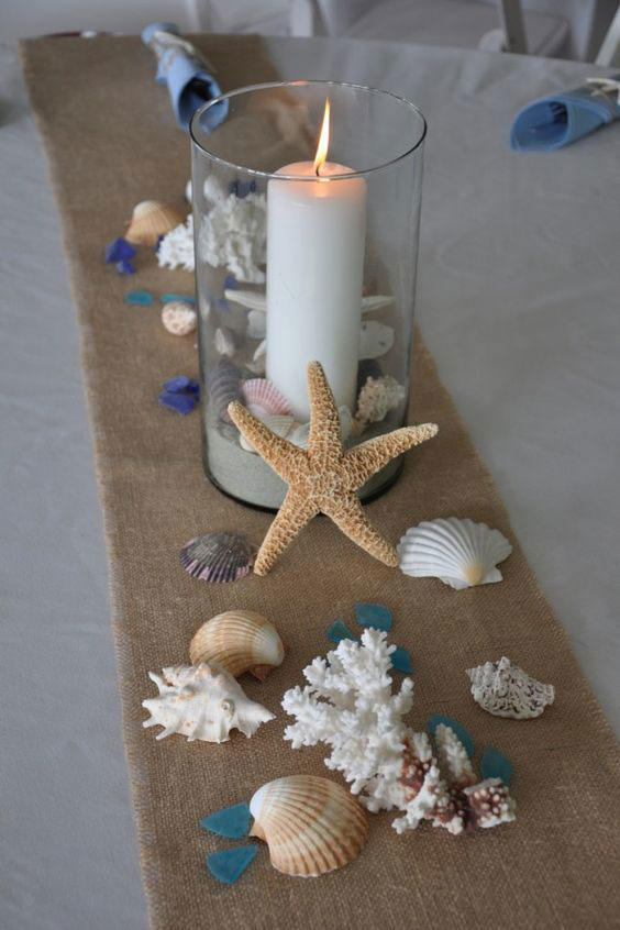 Seashell Wedding Tablescape