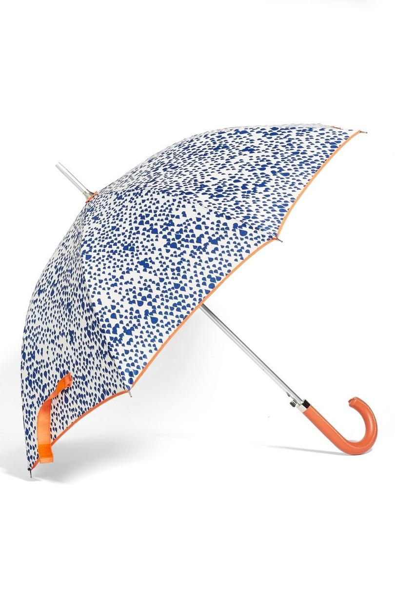 Shedrain Auto Open Stick Umbrella Rainy Orange