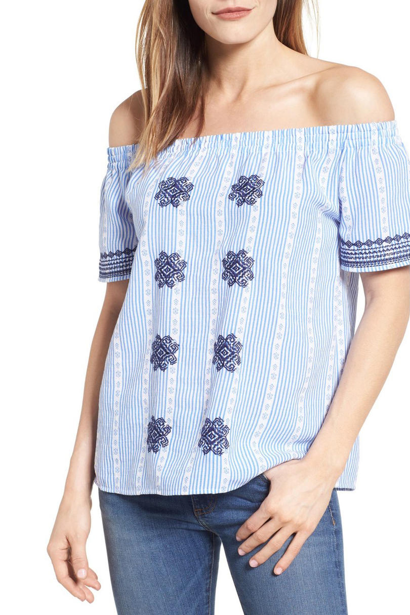 RX_1703_Striped Clothes_THML Embroidered Print Off the Shoulder Top