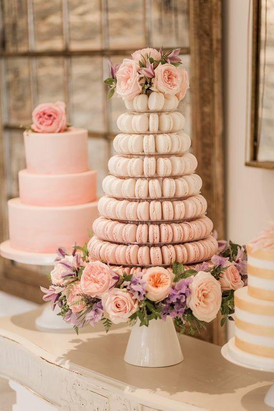 How To Pull Off Blush And Bashful If Youre A Modern Day Steel - Dusty Pink Wedding Cake