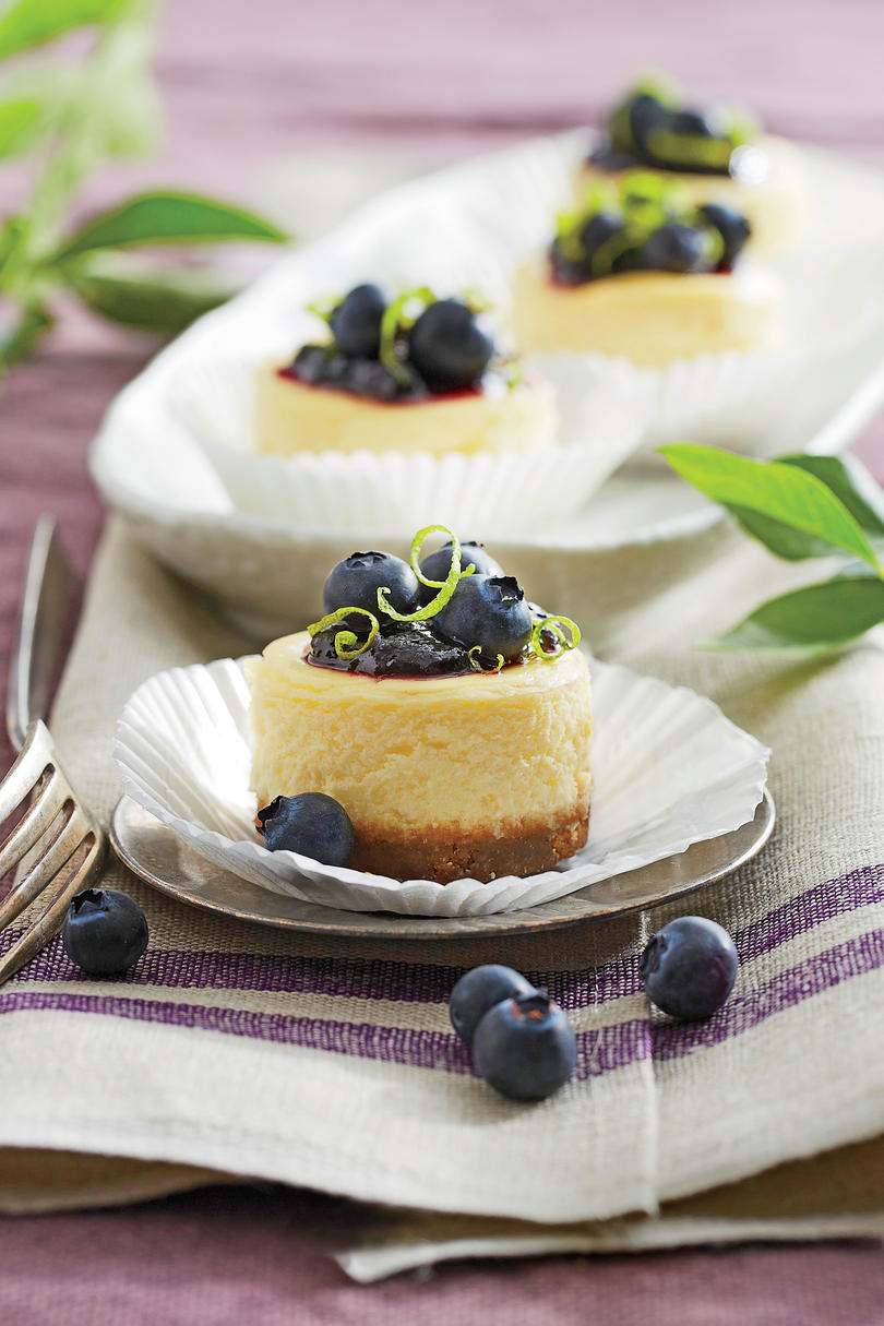 Petite Blueberry Cheesecakes