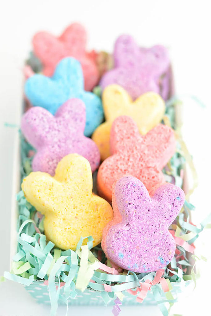 Colorful Bunny Bath Bombs