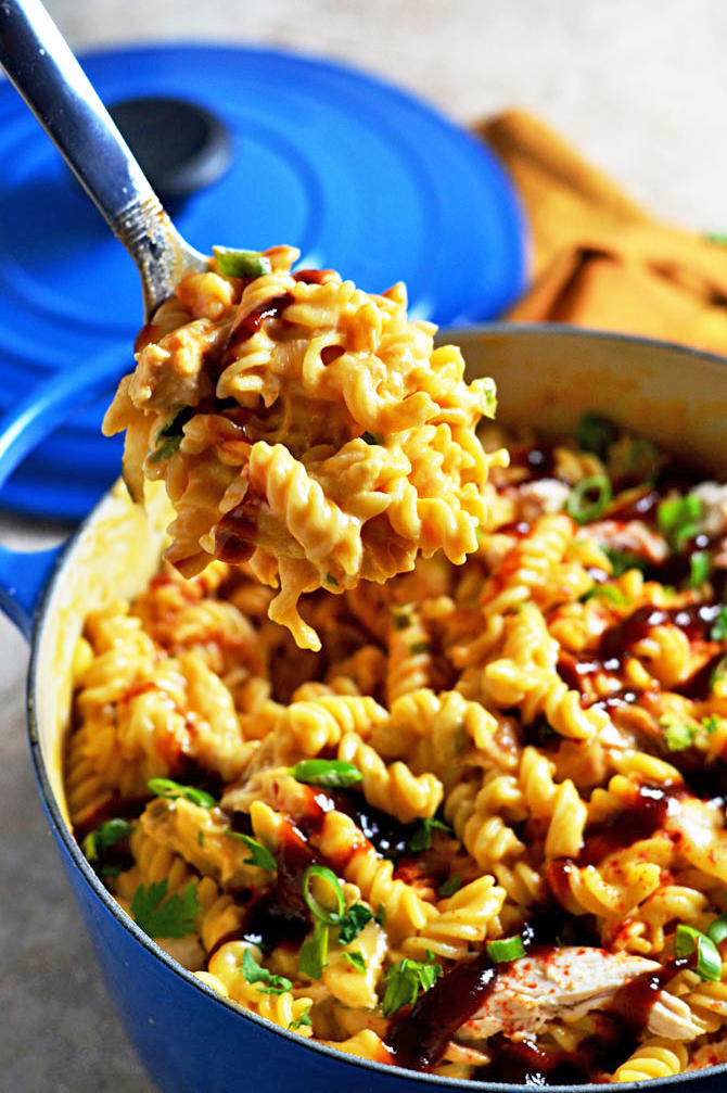 BBQ Chicken Mac and Cheese